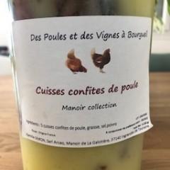 5 CUISSES DE POULES CONFITES