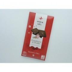CHOCOLAT NOIR FRAMBOISE PRALIN