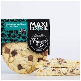 COOKIE NOISETTE ENTIÈRE 3 CHOCOLAT